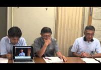 2014.8.1 県の「流水型ダムは環境影響ない」を覆した川那部レポート 記者会見